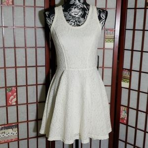 Express skater lace dress nwt size S ivory